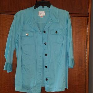 EUC CJ Banks Light Blue Jacket size 1X